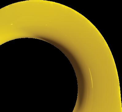 Yellow circular structure