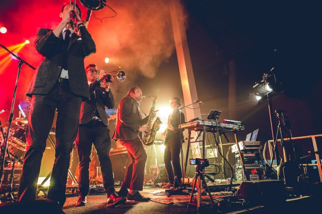 Public Service Broadcasting playing at Wakefield Festival of the Moon